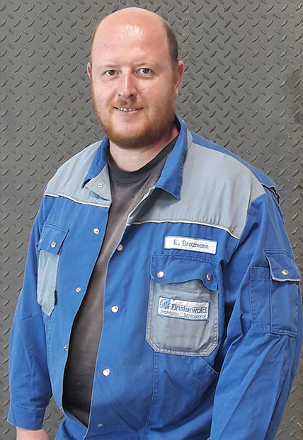 Eduard Brozmann, Meister Metallbauhandwerk der Firma Finsterwald Stahlbau GmbH & Co.KG