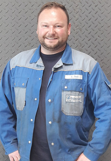Klemens Groβ, Vorarbeiter der Firma Finsterwald Stahlbau GmbH & Co.KG
