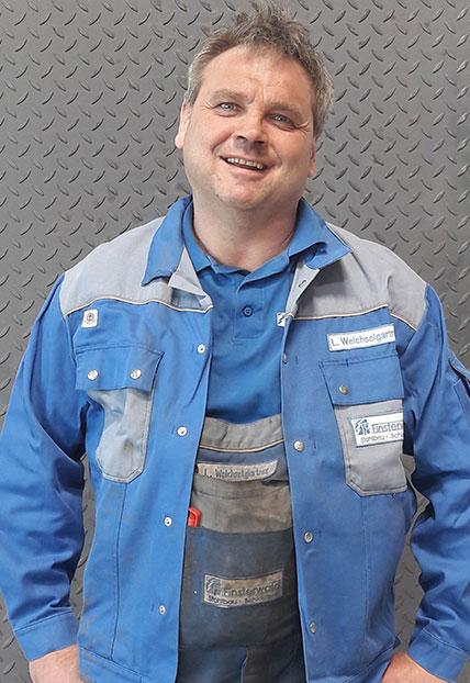 Ludwig Weichselgartner, Vorarbeiter der Firma Finsterwald Stahlbau GmbH & Co.KG