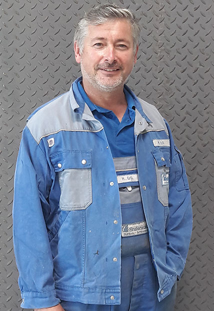 Michael Ertl, Obermonteur der Firma Finsterwald Stahlbau GmbH & Co.KG
