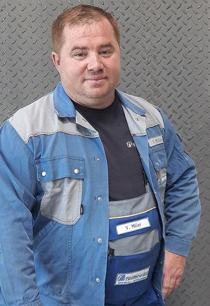 Vitali Miller, Vorarbeiter der Firma Finsterwald Stahlbau GmbH & Co.KG